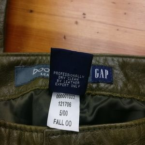 GAP Pants - GAP Olive Green Genuine Leather Boot Cut Pants!